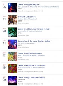 Concert Agenda Lemon