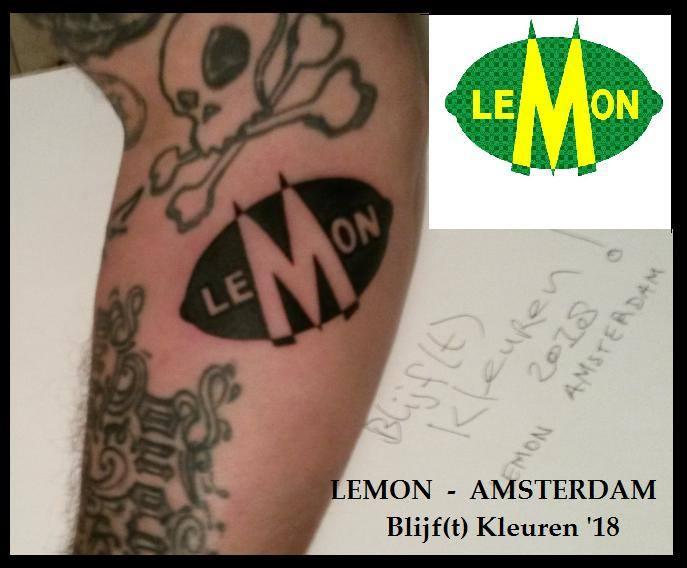 Tattoo Lemon Amsterdam on arm fan