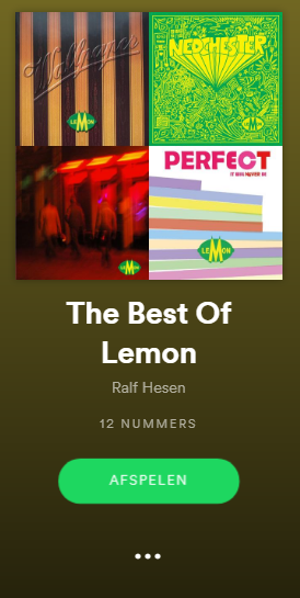 Spotify Playlist The Best Of Lemon