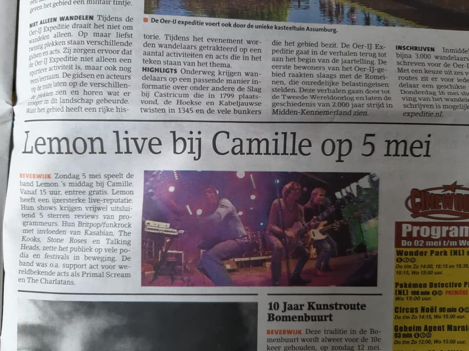 Lemon Amsterdam live at Camille Beverwijk may 2019