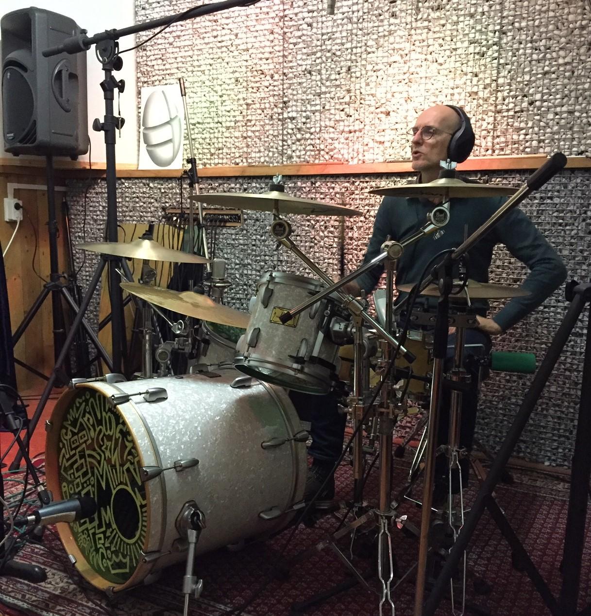 Paul in de Ei Studios Lemon Amsterdam