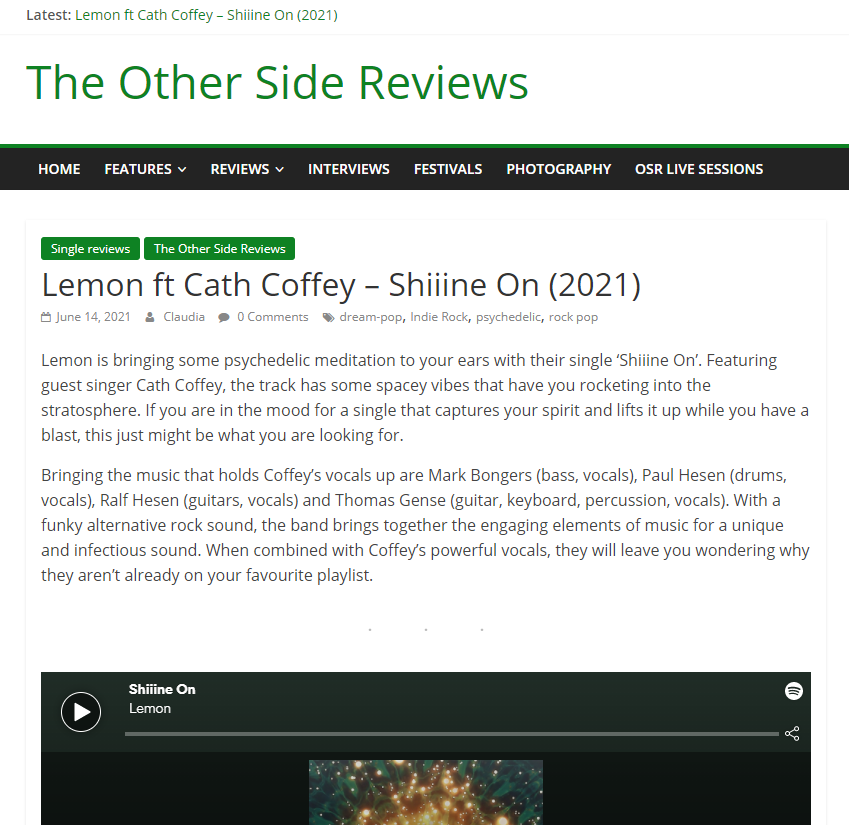 Review Shiiine On Lemon Amsterdam on Other Side Reviews