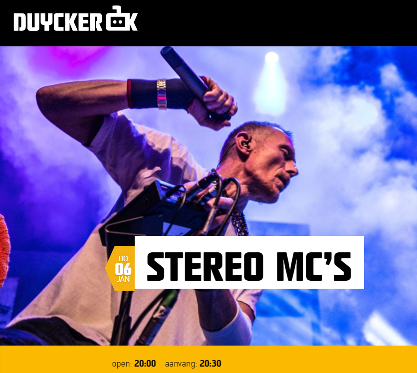 Lemon Amsterdam support act Stereo MCs
